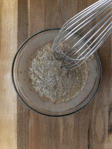 Mix ing Chia seeds