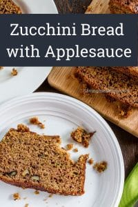 zucchini bread with applelsauce