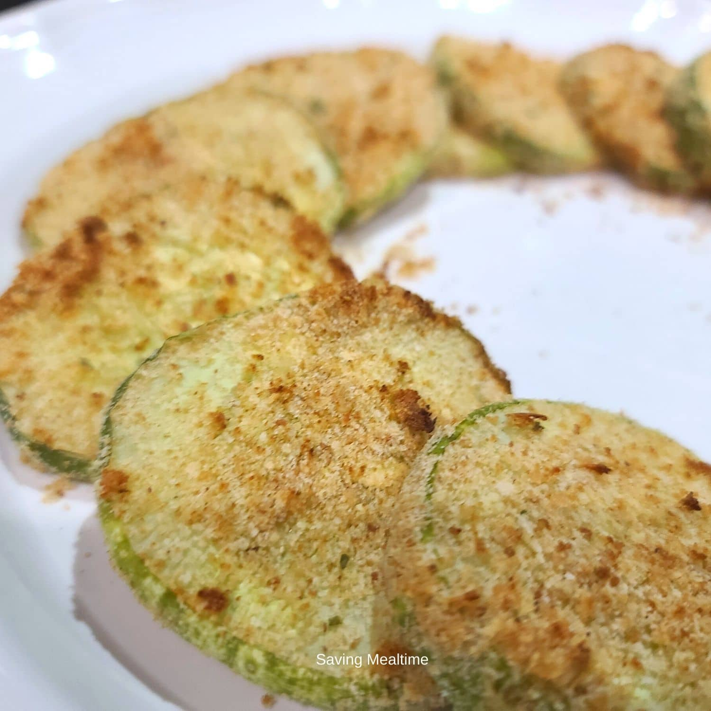 Air fried cucumbers