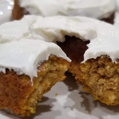 Pumpkin Donuts with maple cream cheese frosting