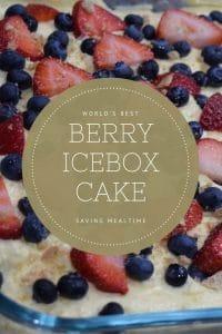 No bake berry icebox cake