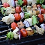 Grilled Chicken Caesar Salad Skewers