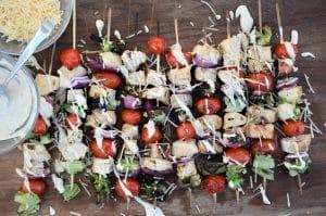 Grilled Chicken Caesar Salad Skewers 9