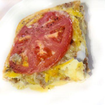 Sausage, Onion, & Tomato Breakfast Quiche