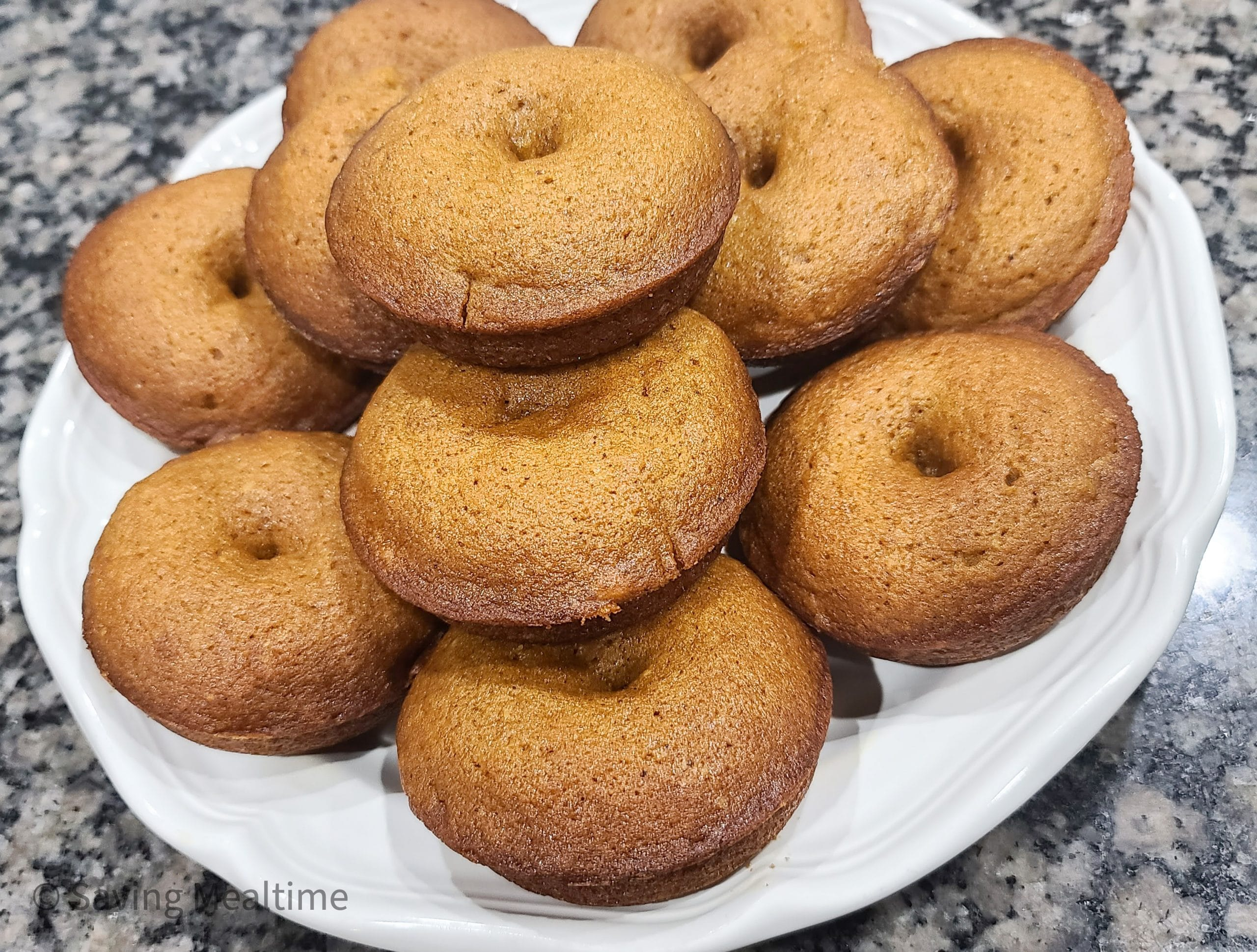 Baked Pumpkin Donuts with Powdered Sugar