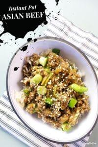Insta pot asian beef