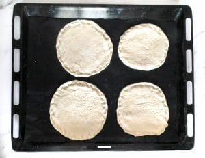 Round pita dough