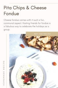 Pita Chips and Cheese Fondue