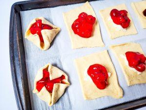 Cherry Cheese Crescent Prep