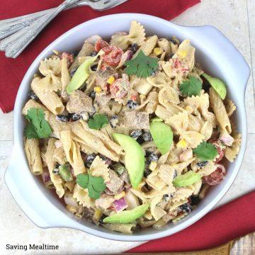 Southwestern Pasta Steak Salad