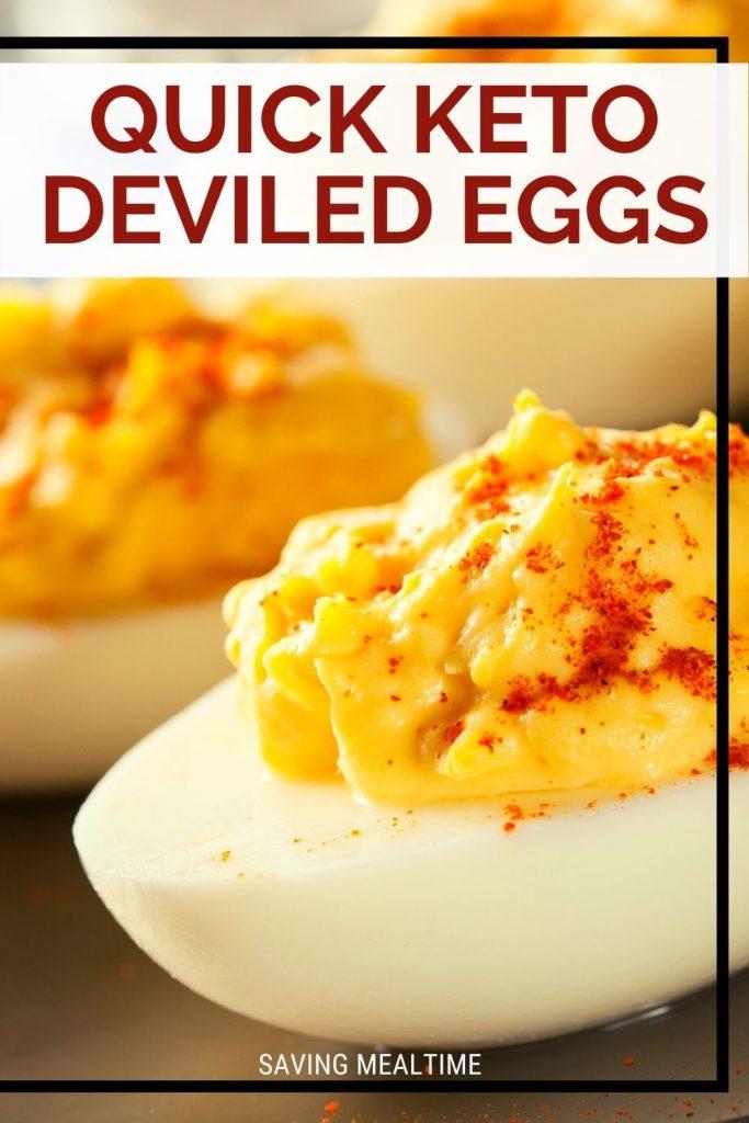 Quick Keto Deviled Eggs