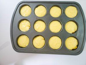 Batter in muffin tin