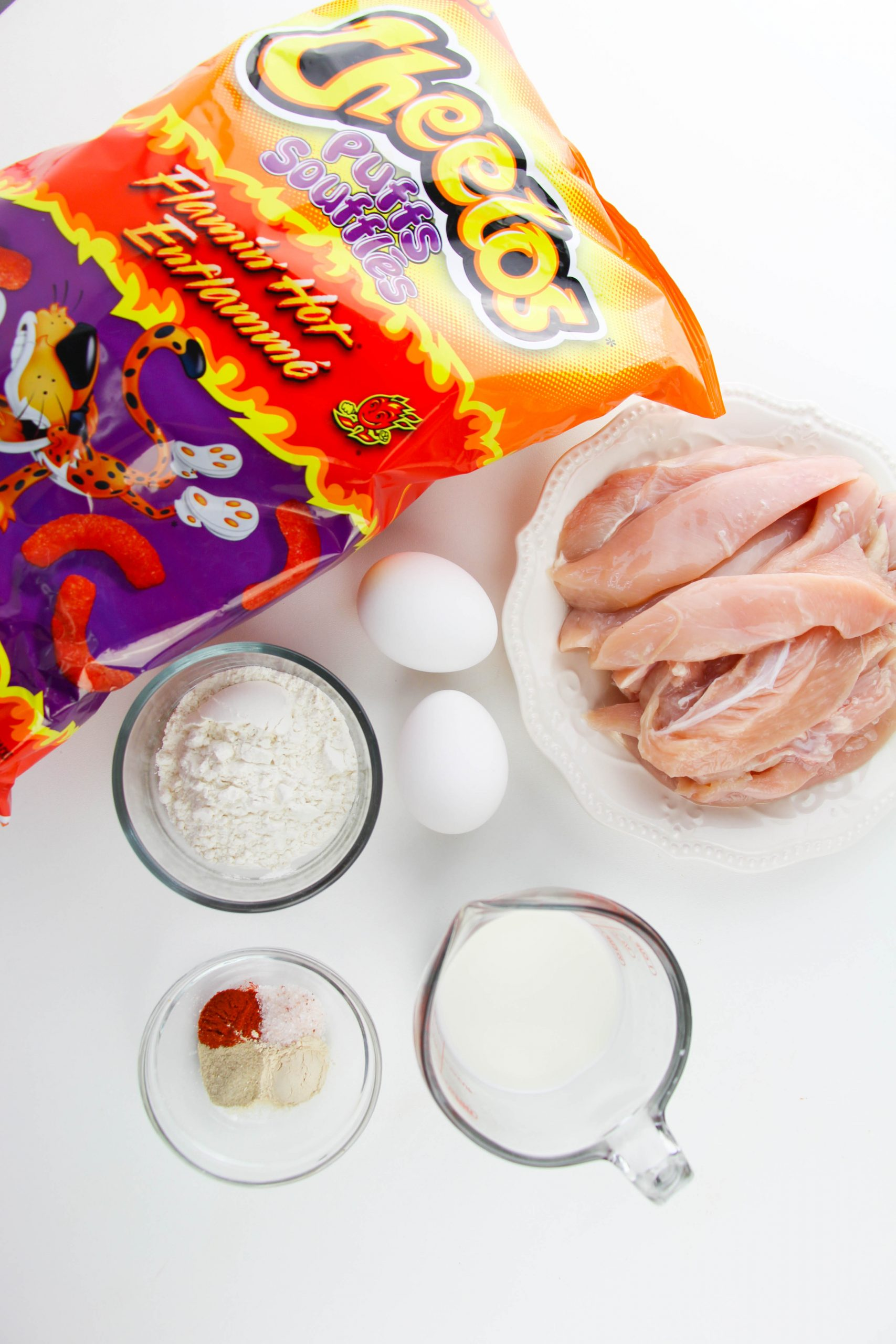 Cheeto Chicken Finger Ingredients