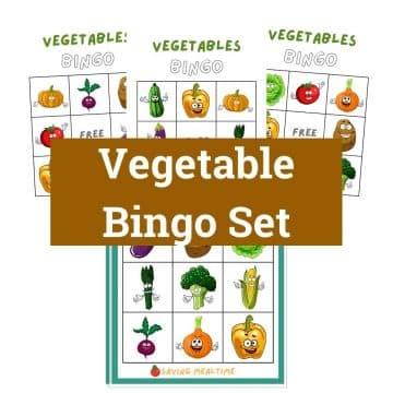 Vegetable Bingo Set